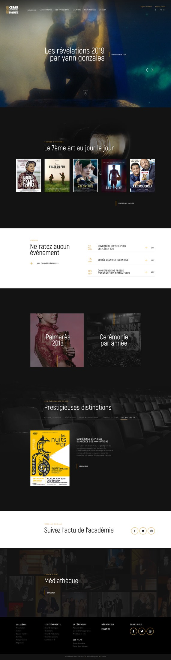 maquette site web César